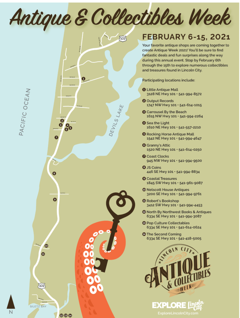 2021 Antique and Collectibles Week Map